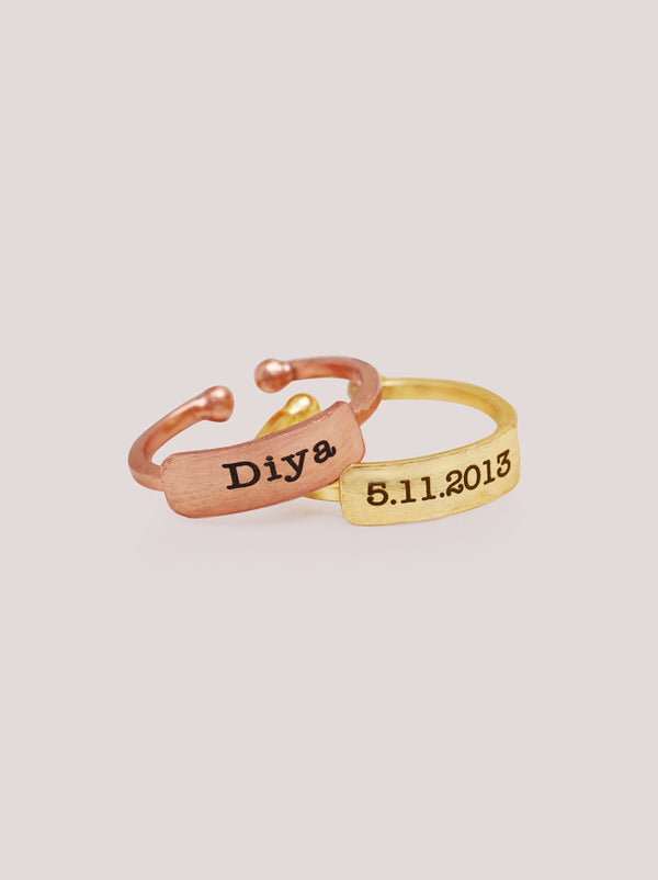 Personalised Ring Set - Tipsyfly