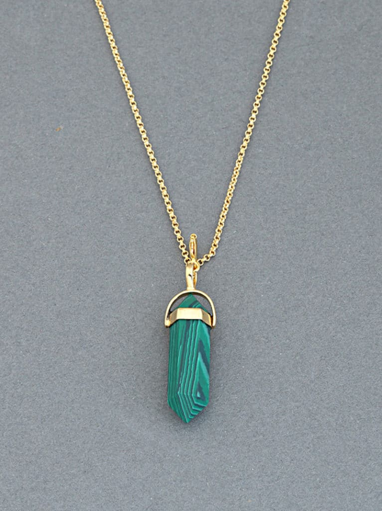 Tipsyfly Malachite Pendant Necklace - Tipsyfly