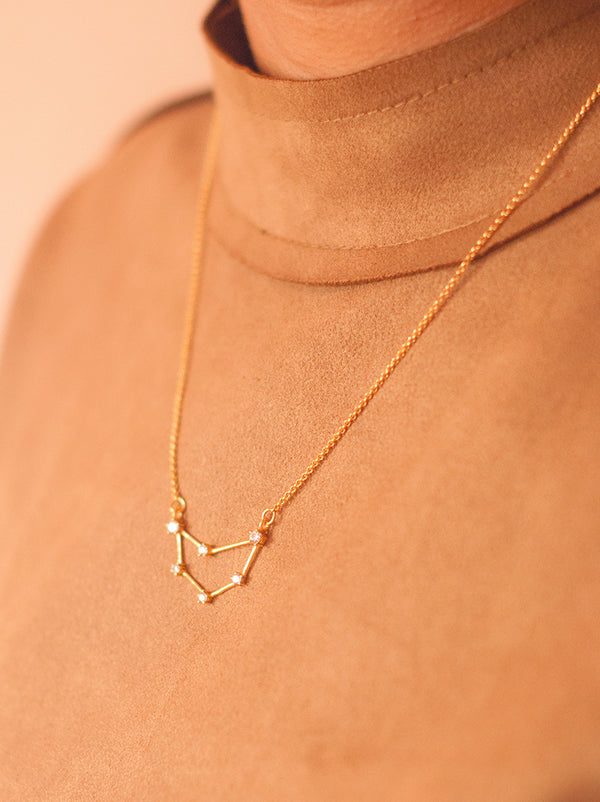 Tipsyfly Capricorn Constellation Necklace