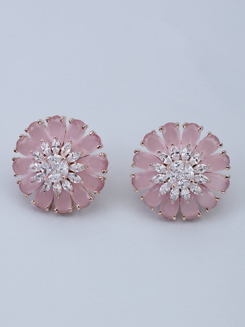 TIPSYFLY BLUSH BLOSSOM EARRINGS