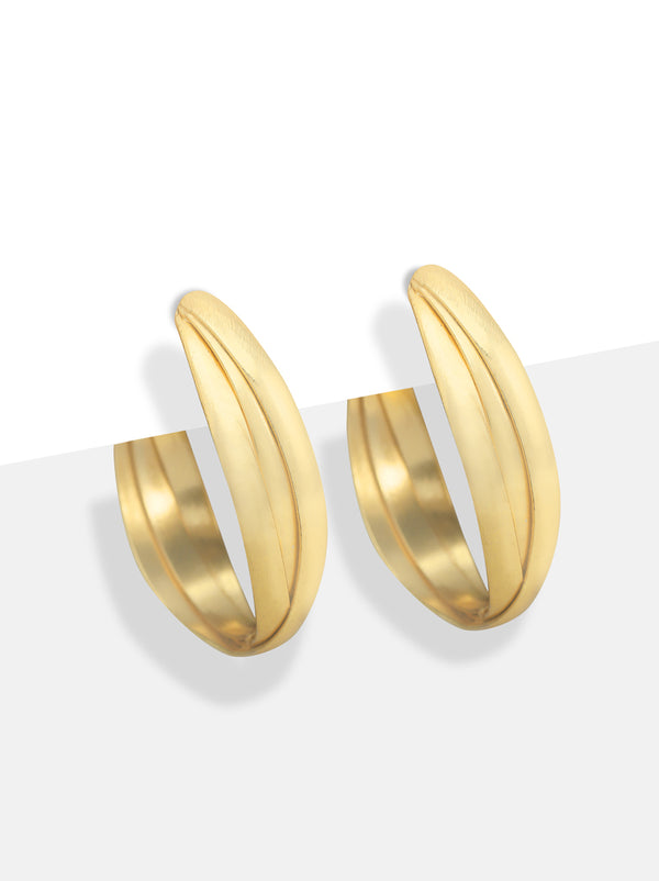 Gold twist hoops - Tipsyfly