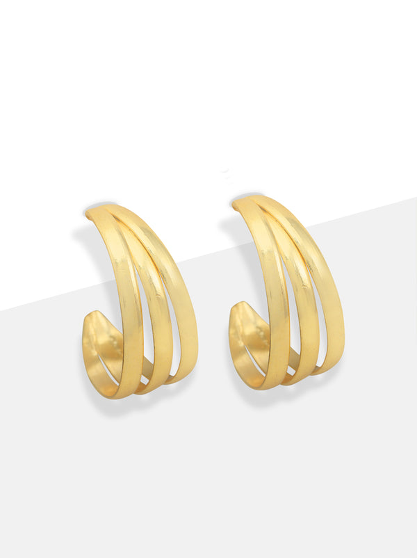 Triple Gold Bali style hoops - Tipsyfly