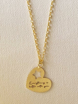 Personalised Heart cutout love note necklace - Tipsyfly