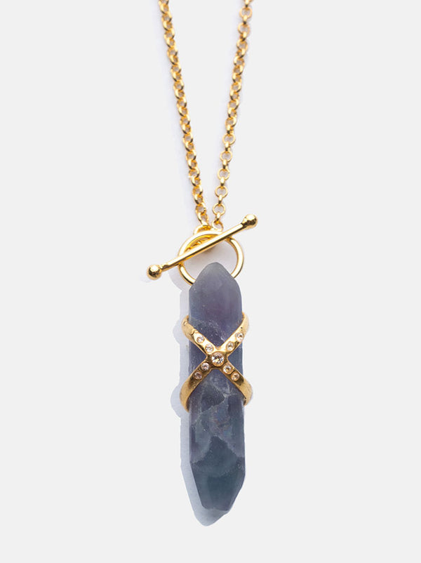 Fluorite Crystal Harness T - Lock Pendant - Tipsyfly