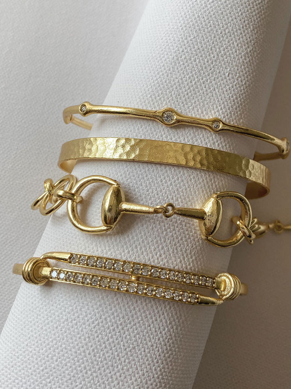 Brilliant intertwined gold cuff - Tipsyfly