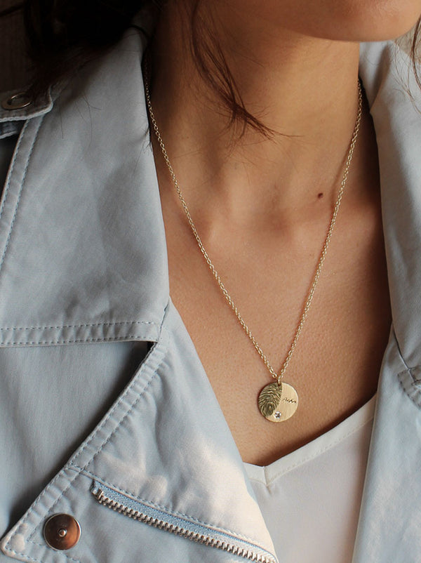 Fingerprint Gold Necklace