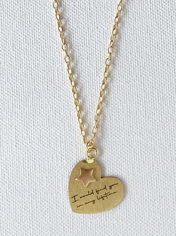 Personalised Heart pop love note necklace - Tipsyfly