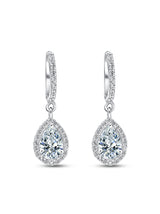 925 Silver Pear cut Drops - Tipsyfly