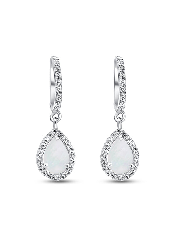 925 Silver Pear cut Drops