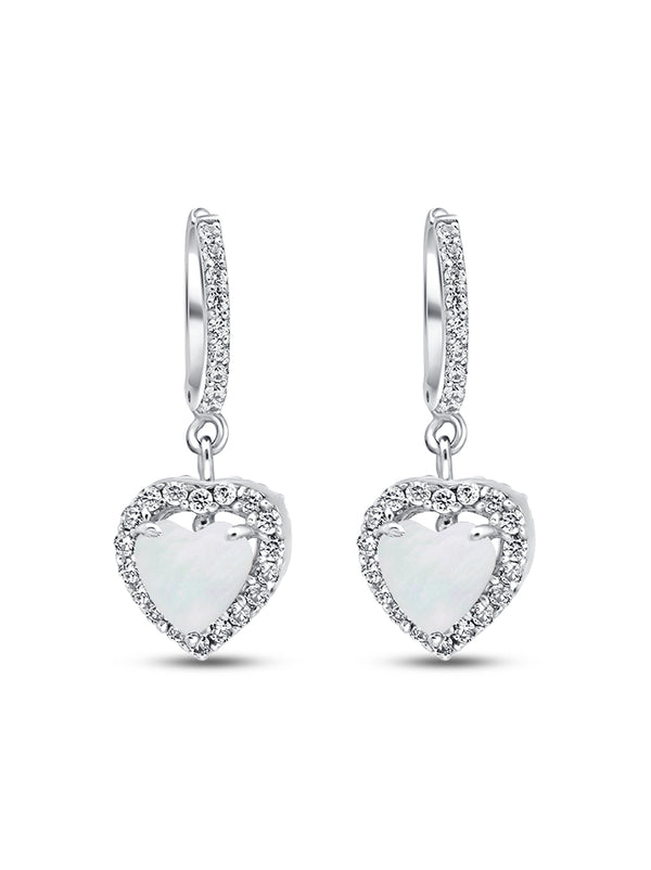 925 Silver Heart cut Drops