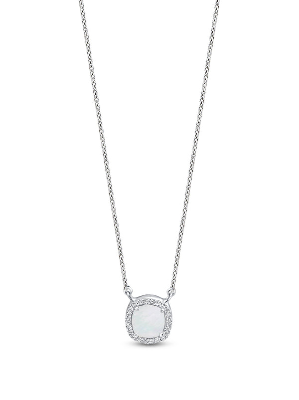 925 Silver Cushion cut Pendant