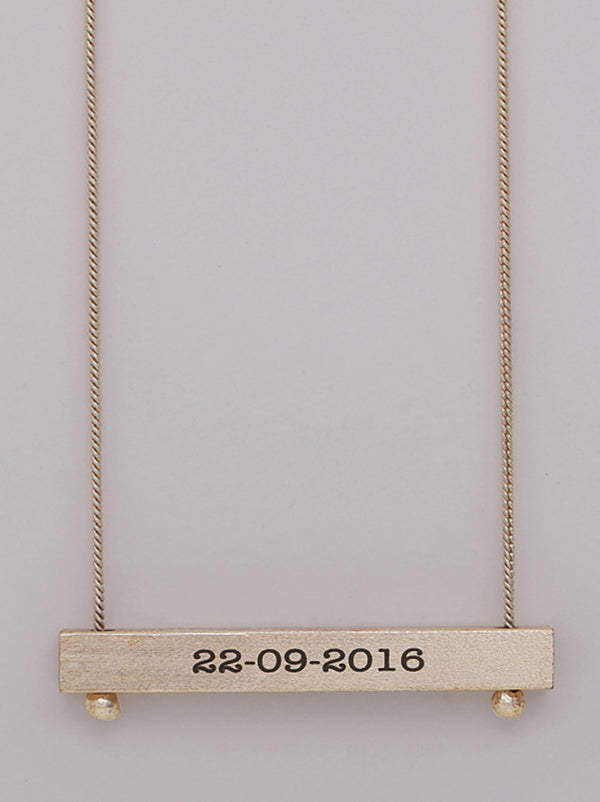 Cursive Reversible Bar Necklace - Tipsyfly
