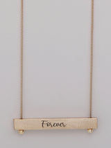 Cursive Reversible Bar Necklace