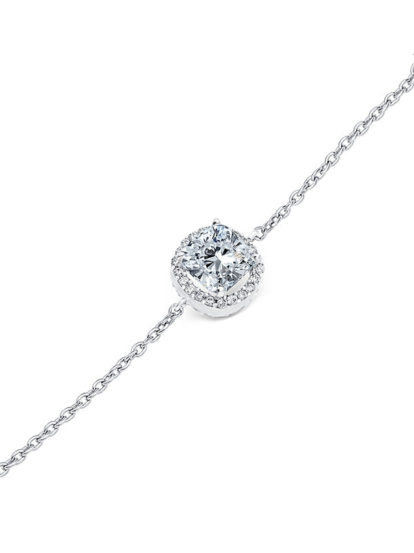 925 Silver Cushion cut Bracelet