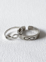 Silver Infinity Couple rings - Tipsyfly