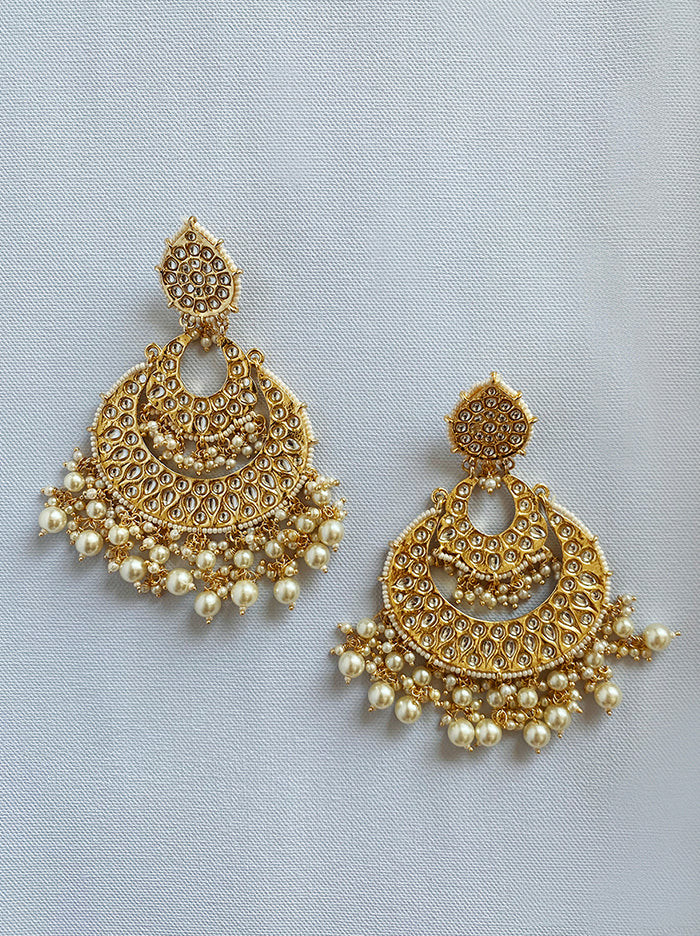 Keshavi Chandbali Earrings - Tipsyfly