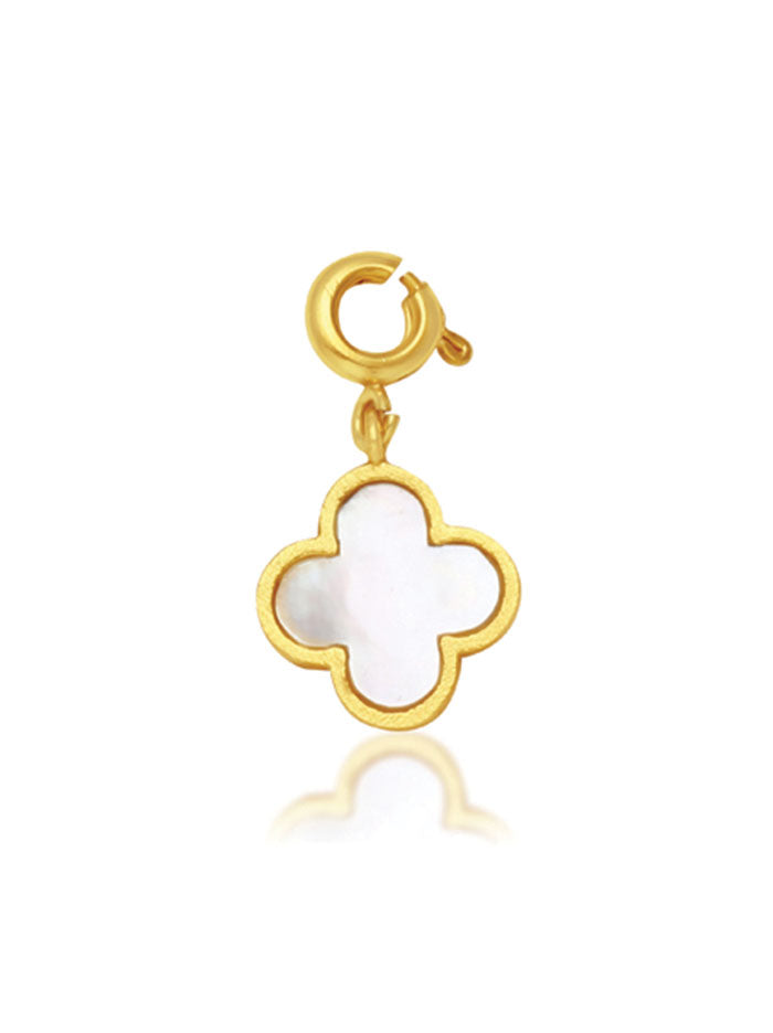 Tipsy Luxe Mother of Pearl Flower Charm - Tipsyfly
