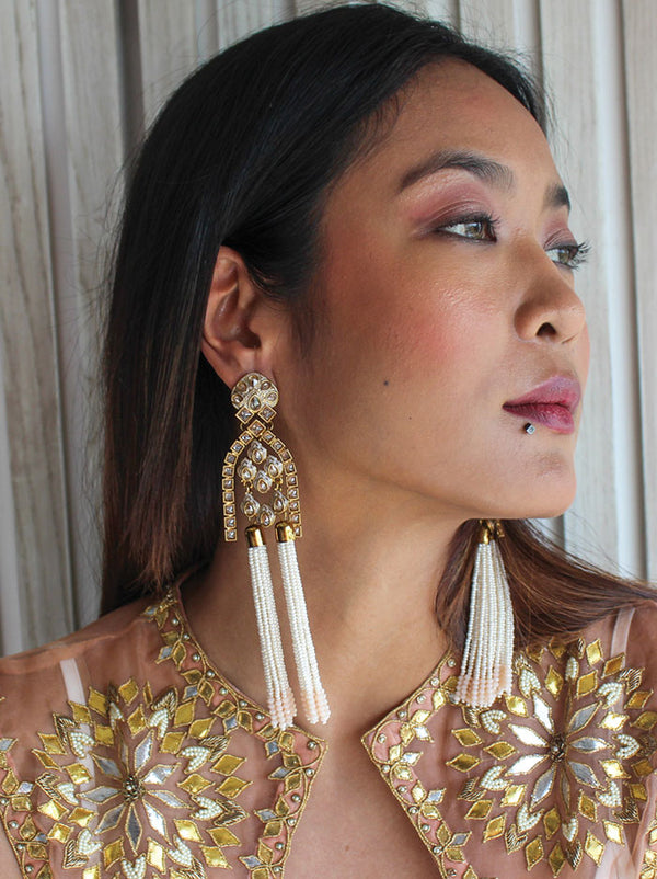 Mahal Tassel chandelier earrings - Tipsyfly
