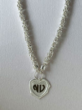 Silver Heart personalised wax seal necklace - Tipsyfly