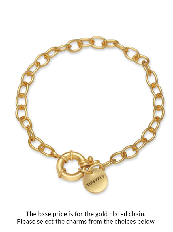 Personalised Tipsy luxe Sleek chain bracelet - Tipsyfly