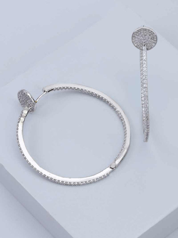 Tipsyfly Diamond studded Hoops - Tipsyfly
