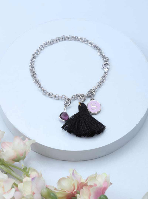 Personalised Charm Bracelet - Silver - Tipsyfly