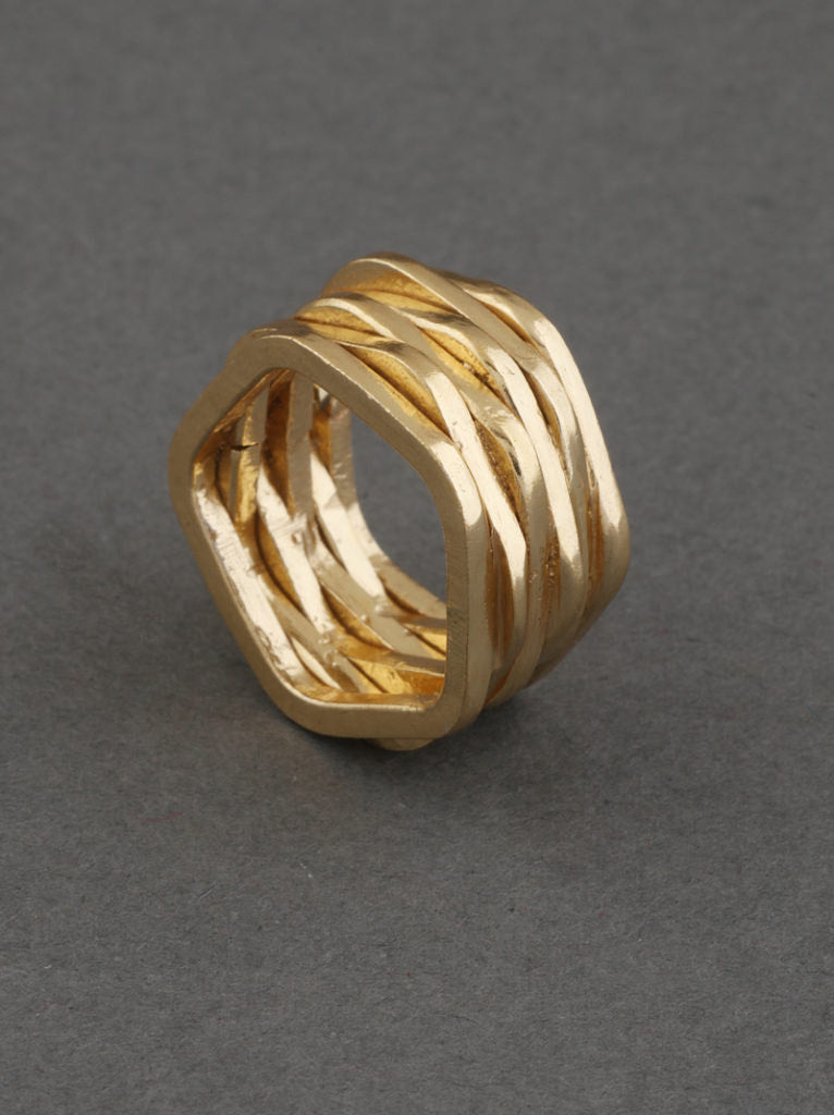 Tipsyfly Stacked Gold Ring