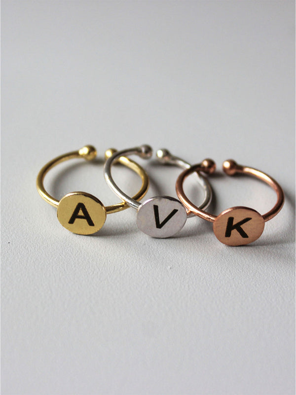Tipsyfly Stacked Initial Rings