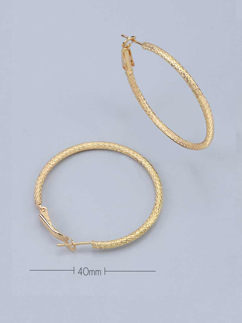 Tipsyfly Textured Hoops Small (40mm) - Tipsyfly
