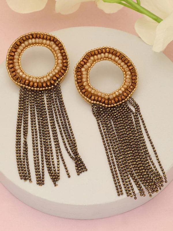 Tipsyfly Beaded Tassel Earrings