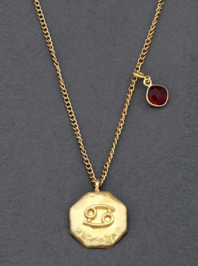 Tipsyfly Cancer Ruby Pendant
