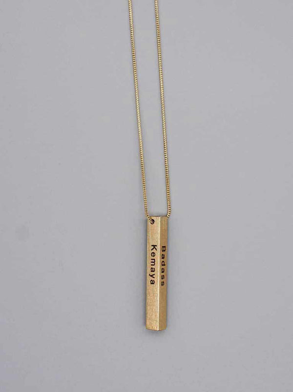 Column Cube Necklace - Tipsyfly