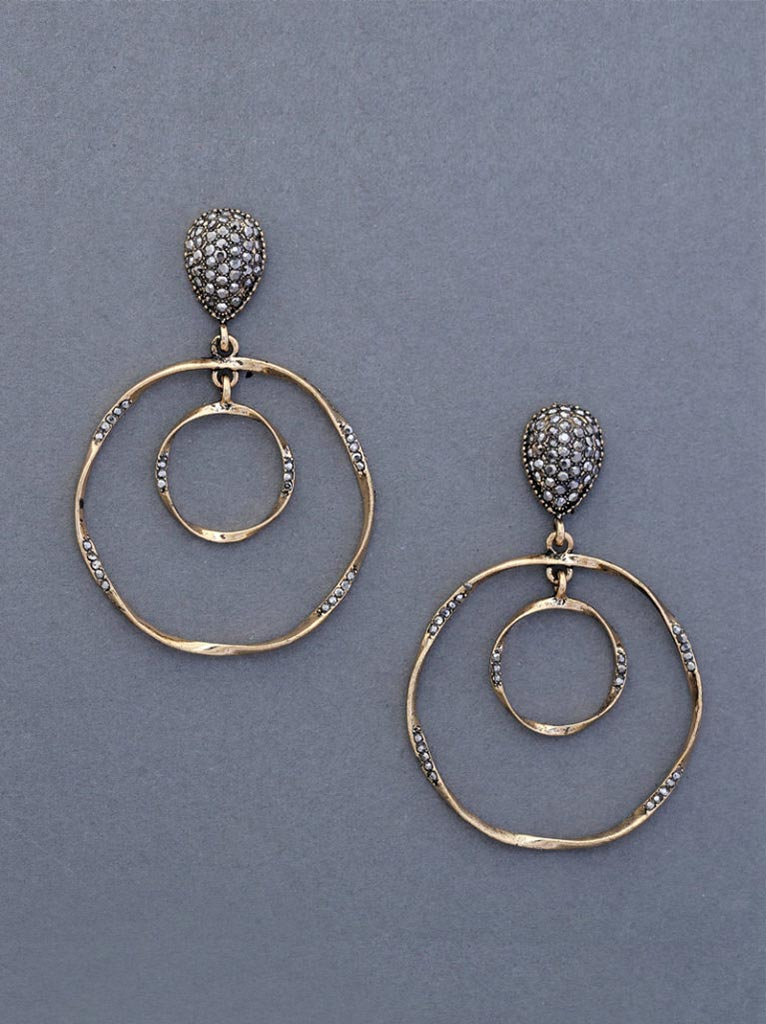 Tipsyfly Concentric Drop Earrings