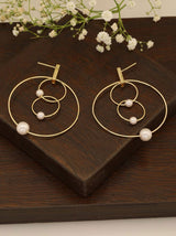 Tipsyfly Delicate Pearl Hoop Earrings - Tipsyfly