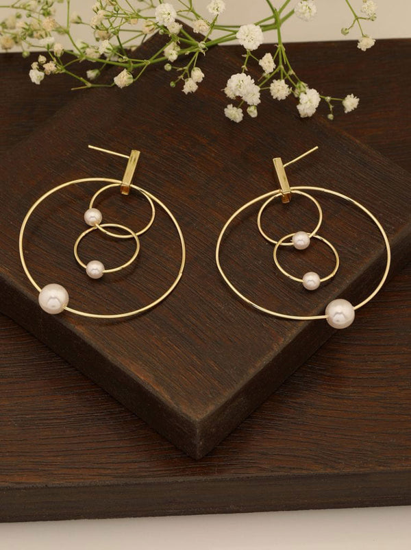 Tipsyfly Delicate Pearl Hoop Earrings