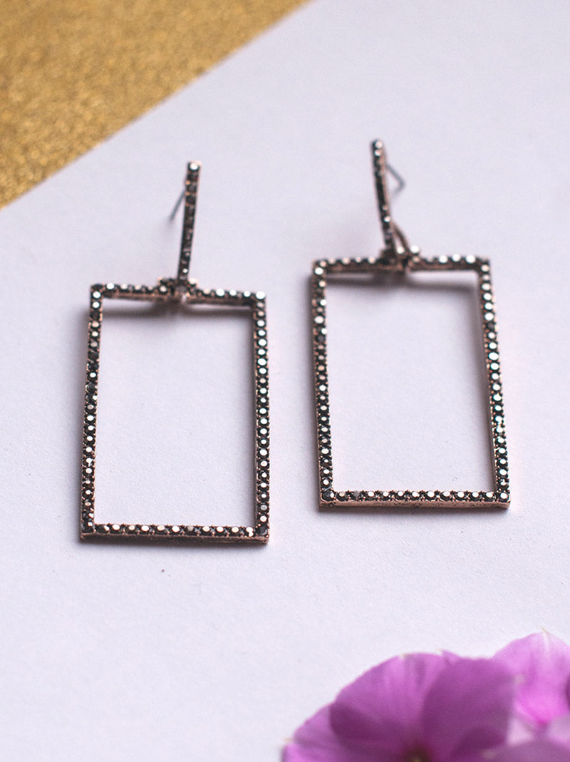 Tipsyfly Melayna Rectangular Drop Earrings - Tipsyfly