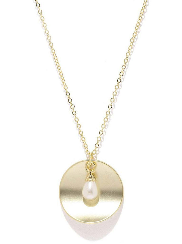 Tipsyfly Pearl Drop Disk Pendant