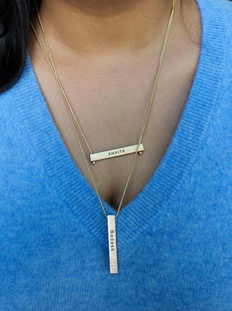 Reversible Bar Necklace - Tipsyfly