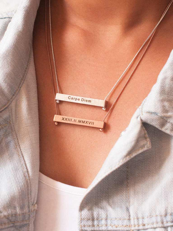 Reversible Bar Necklace