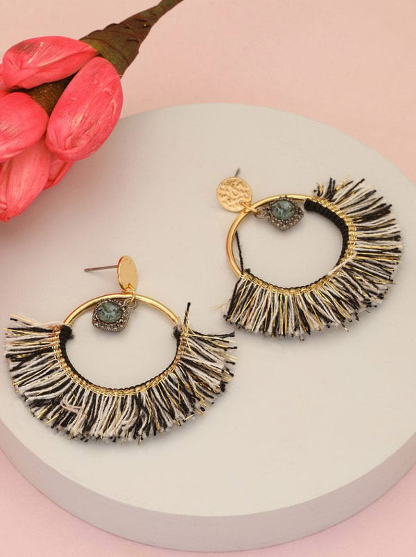 Tipsyfly Tassel Hoop Earrings