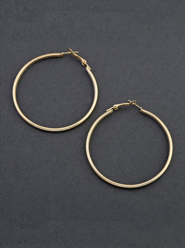 Tipsyfly Textured Hoops