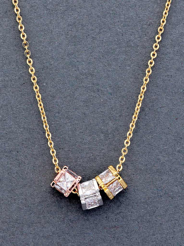 Tipsyfly Trinity Cubes Necklace