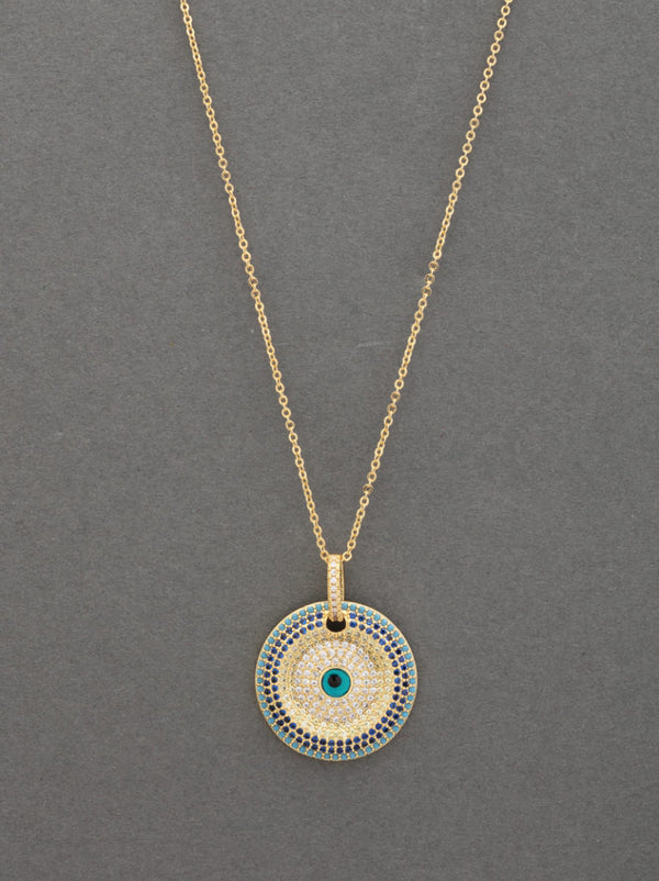 Concentric Evil Eye Pendant