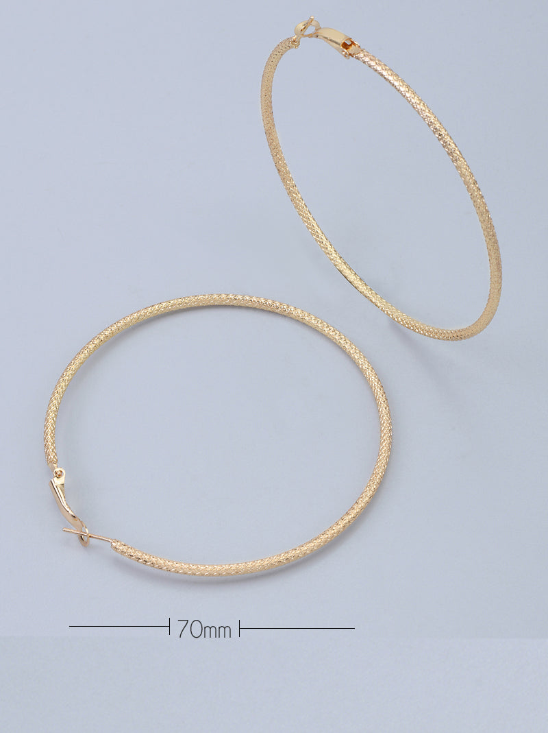 Tipsyfly Textured Hoops XLarge (70mm) - Tipsyfly