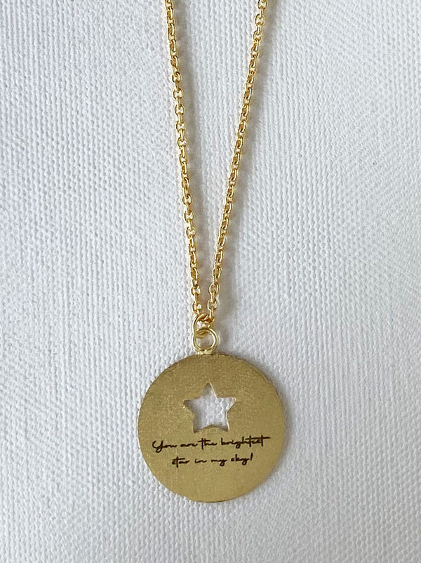 Personalised Circle cutout love note necklace - Tipsyfly