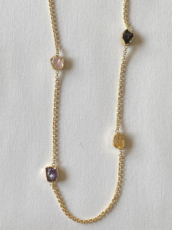 Druzy studded chain necklace - Tipsyfly