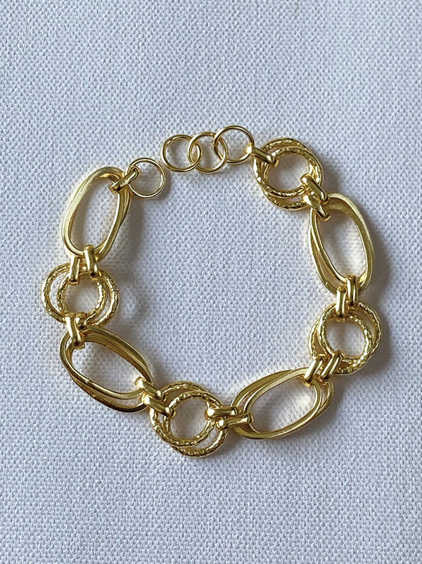 Oval loop chain bracelet - Tipsyfly