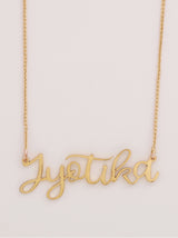 Gold Whimsical Name Necklace - Tipsyfly