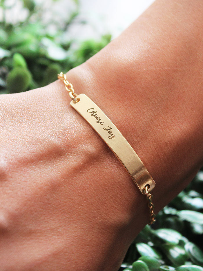 Personalised bar bracelet - Tipsyfly