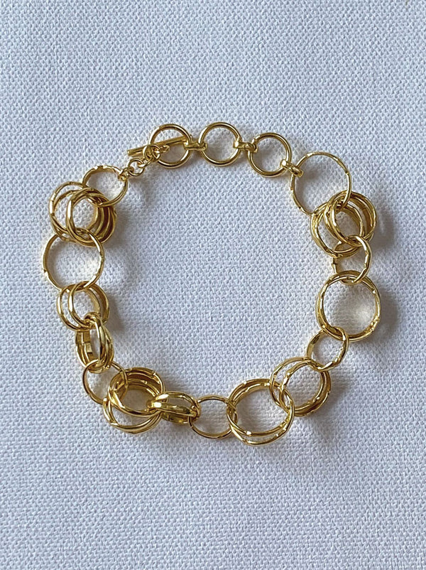 Linked chain bracelet - Tipsyfly